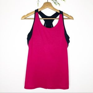 Athleta- Pink Essence Support Tank Top - Size M